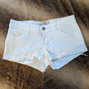 Hollister Cutoff White Jean Shorts